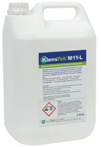 Klenstek M11-L Aqueous spray-in-air quick-break oil degreaser Fraser Technologies