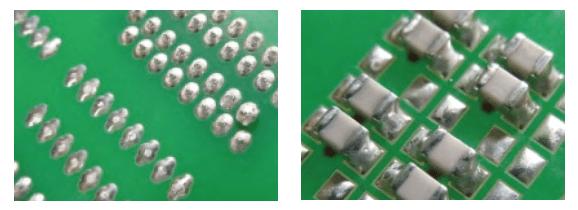 PCBs after wave soldering