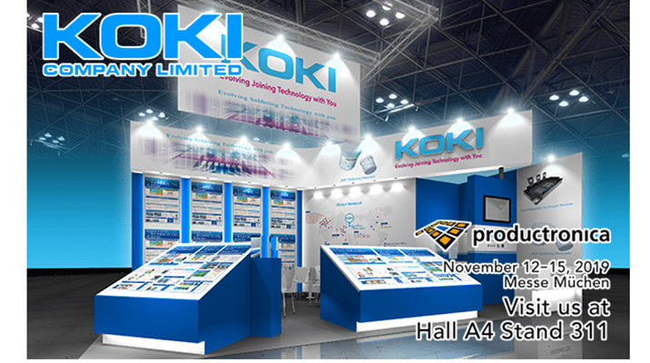 KOKI stand at productronica 2019
