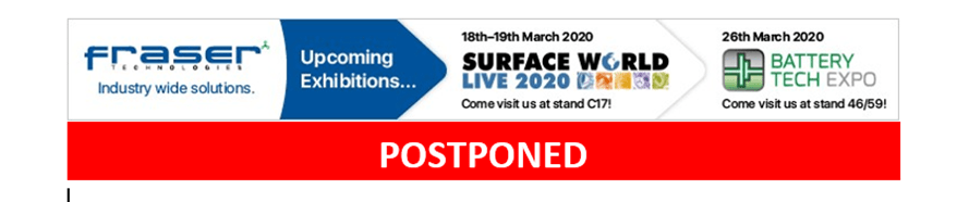 Surface World and battery Tech Expo have been postponed